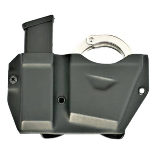 Universal handcuff and magazine combo carrier