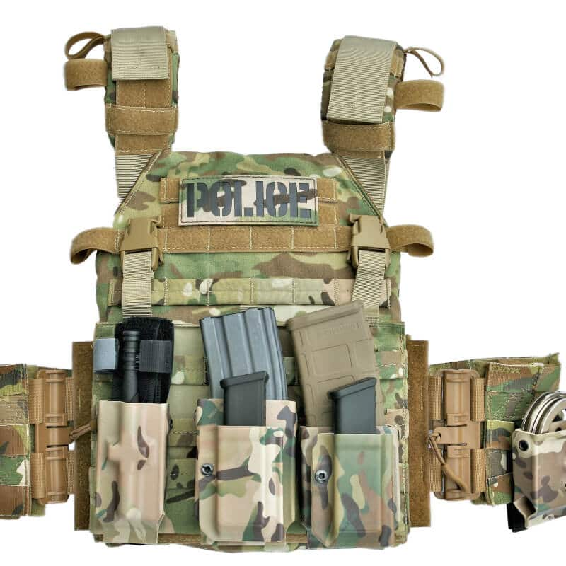 Police vest modular carrying system