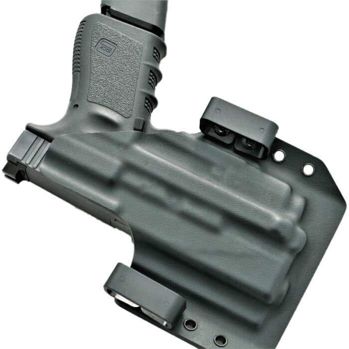 OWB Light Bearing Holster - Glock 19 with Olight PL-2 mini